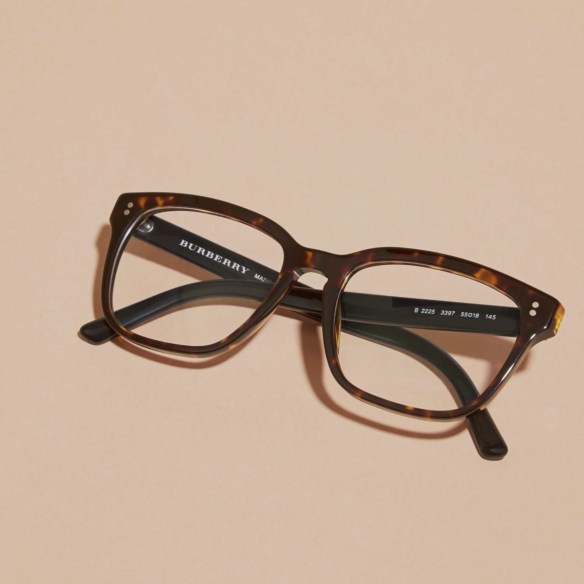 Square Optical Frames Light Russet Brown - gallery image 3