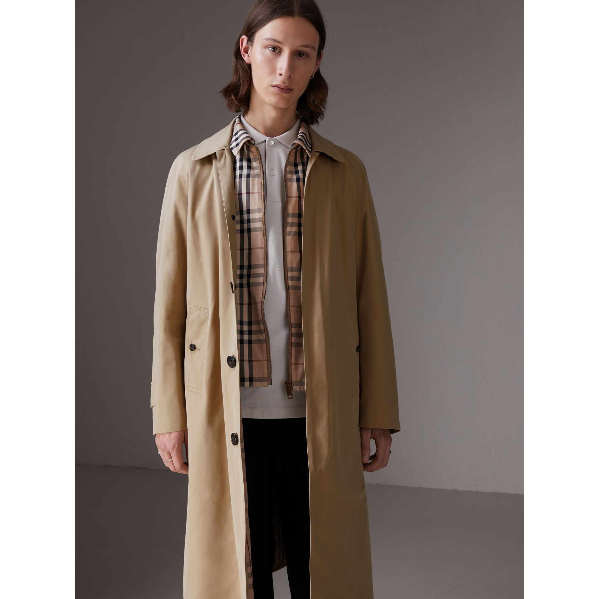 Gosha x Burberry Reconstructed Car Coat in Honey | Burberry Australia - gallery image 2