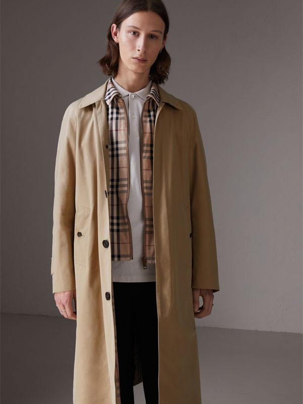 Gosha x Burberry Reconstructed Car Coat in Honey - Men | Burberry Singapore - cell image 2