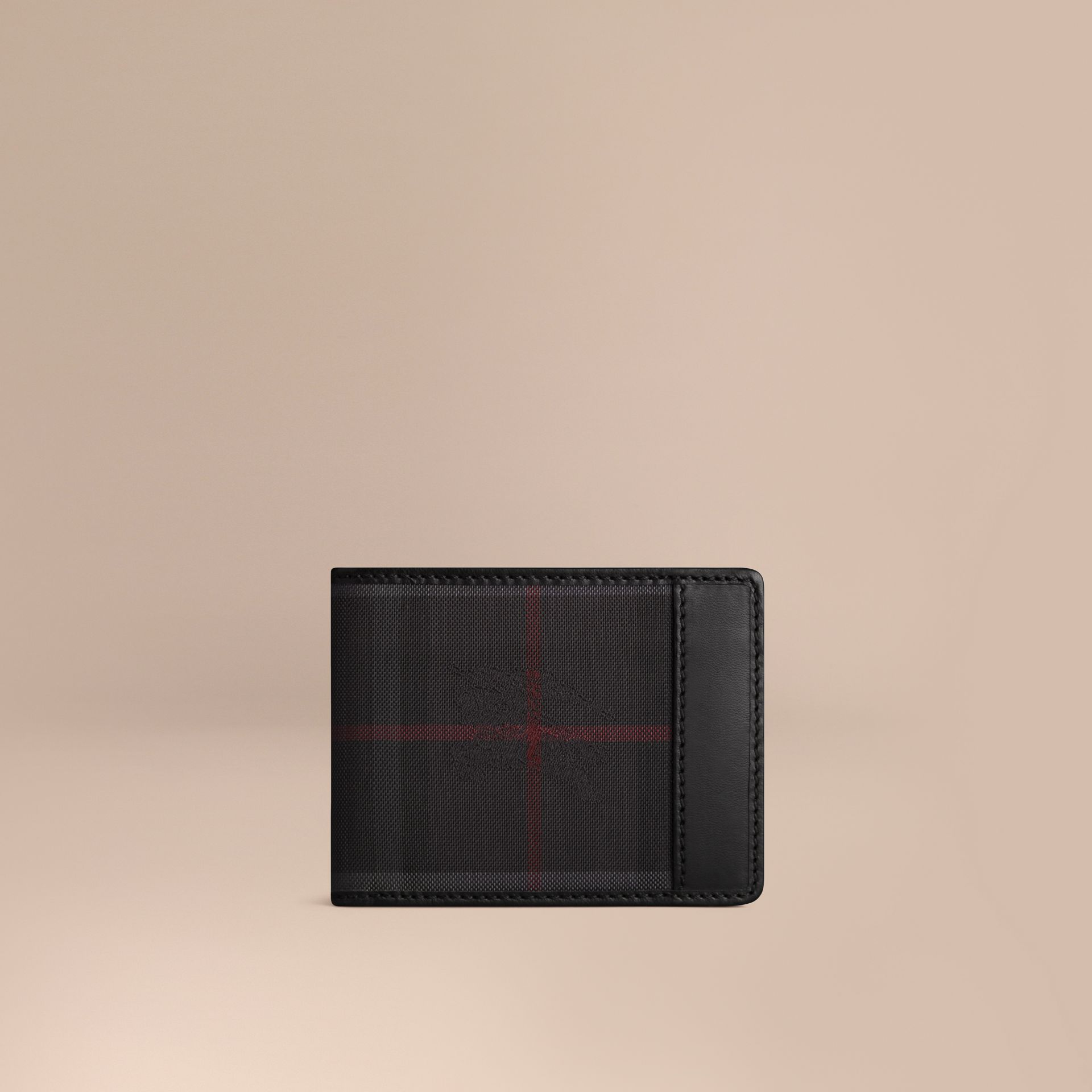 Horseferry Check Wallet Charcoal/black - gallery image 1