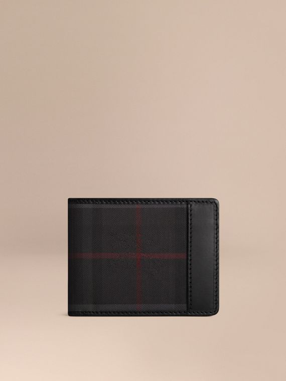 Horseferry Check Wallet Charcoal/black
