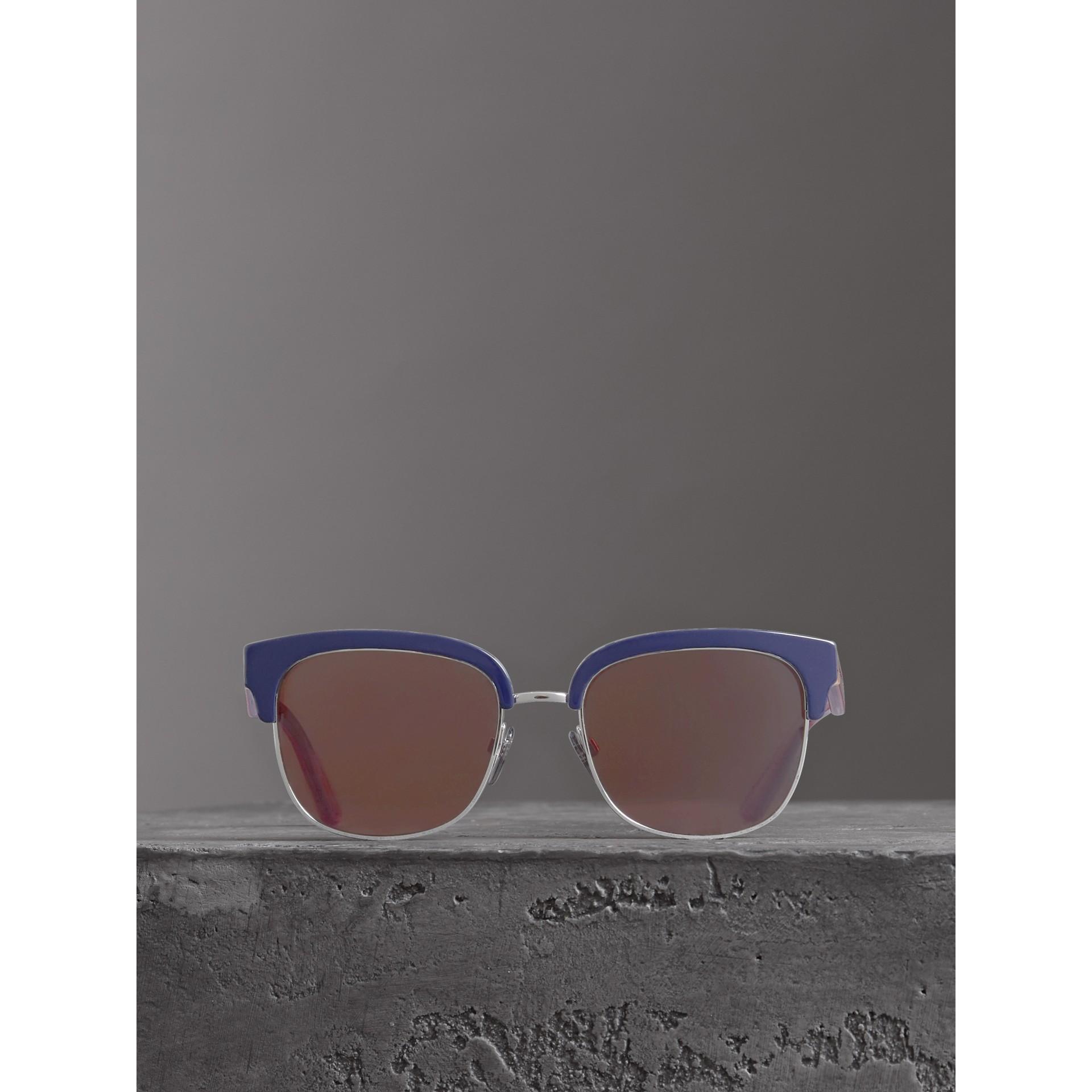 Sonnenbrille mit Karodetail (Blau) - Herren | Burberry - Galerie-Bild 2