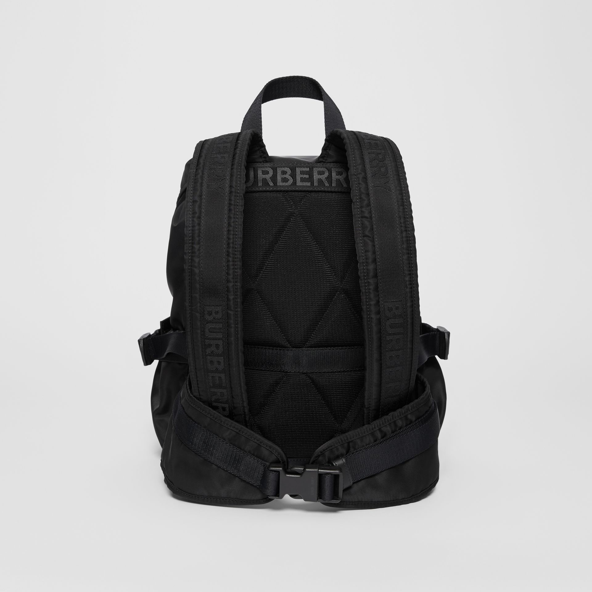 Logo Print Nylon Backpack in Black - Women | Burberry United States - gallery image 7