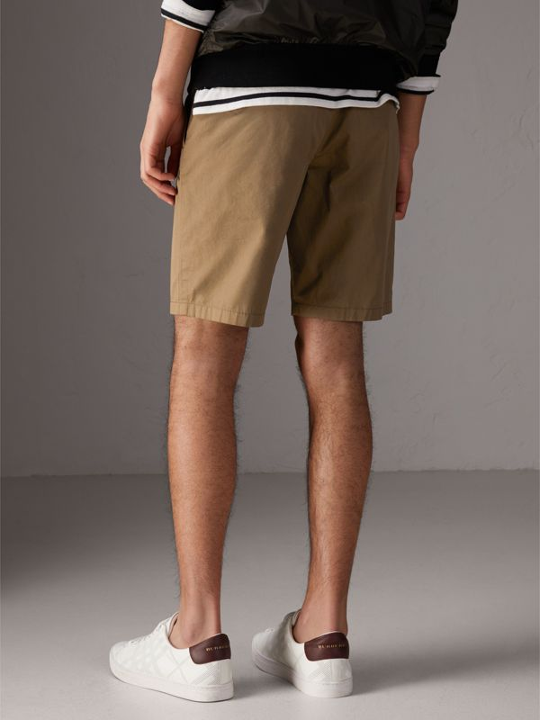 Cotton Twill Chino Shorts in Olive Green - Men | Burberry - cell image 2