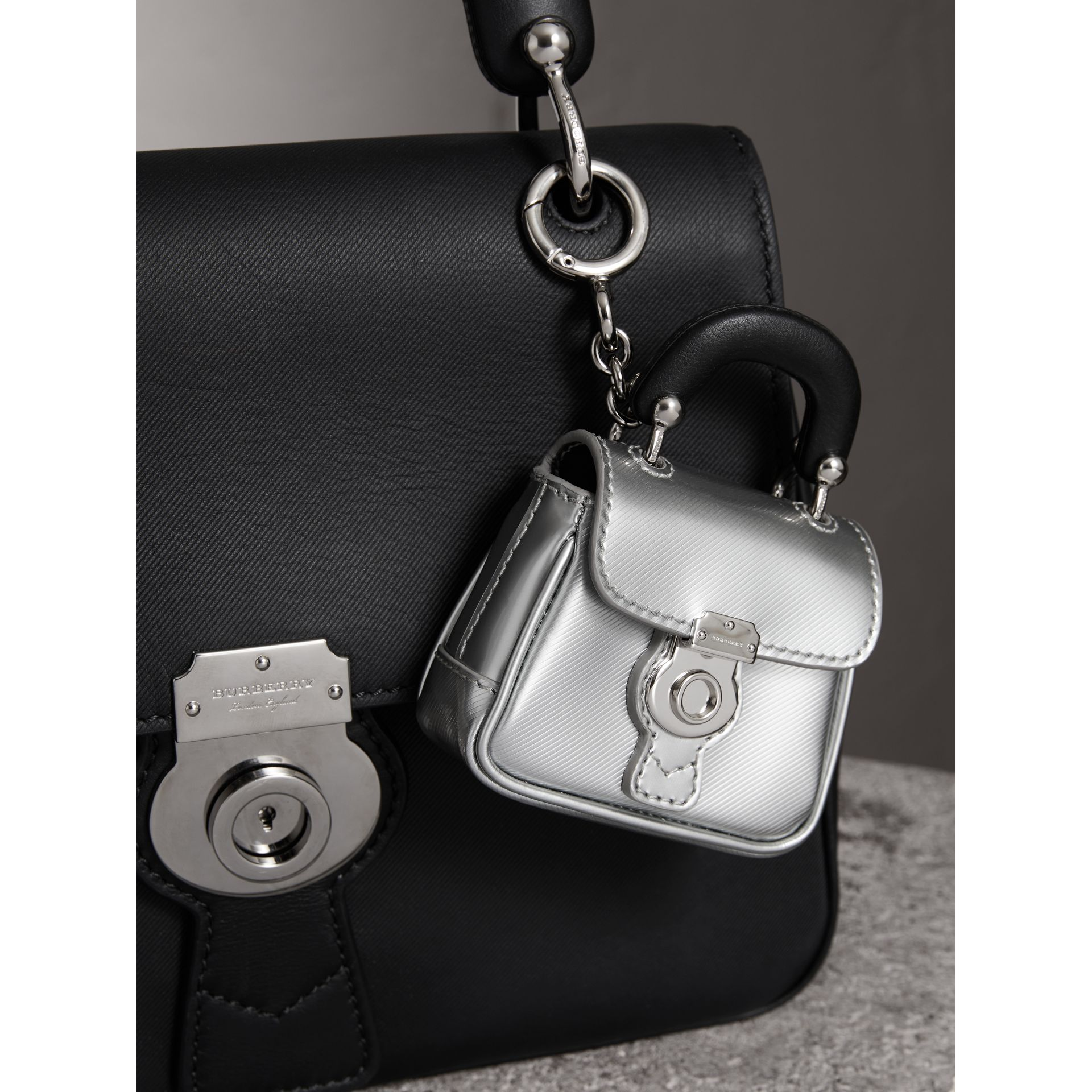 The DK88 Charm in Silver - Women | Burberry - gallery image 2