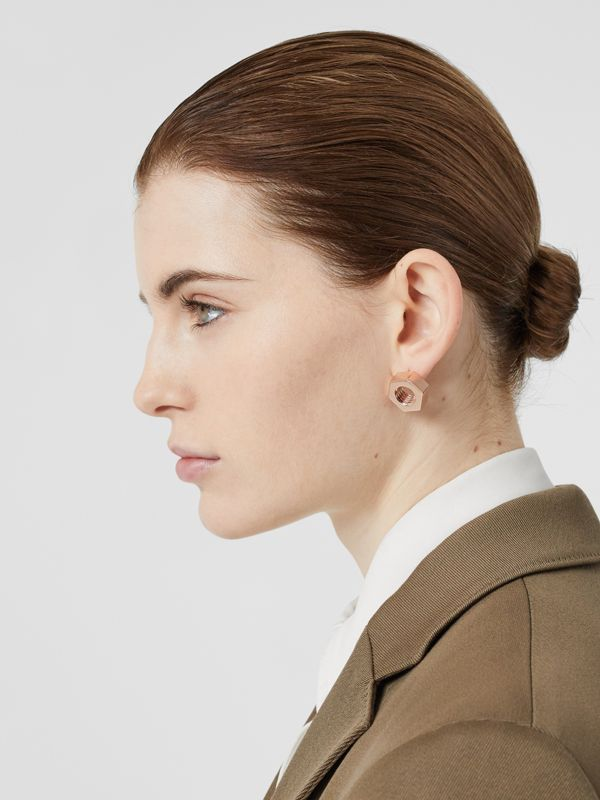 Rose Gold-plated Nut Earrings - Women | Burberry - cell image 2