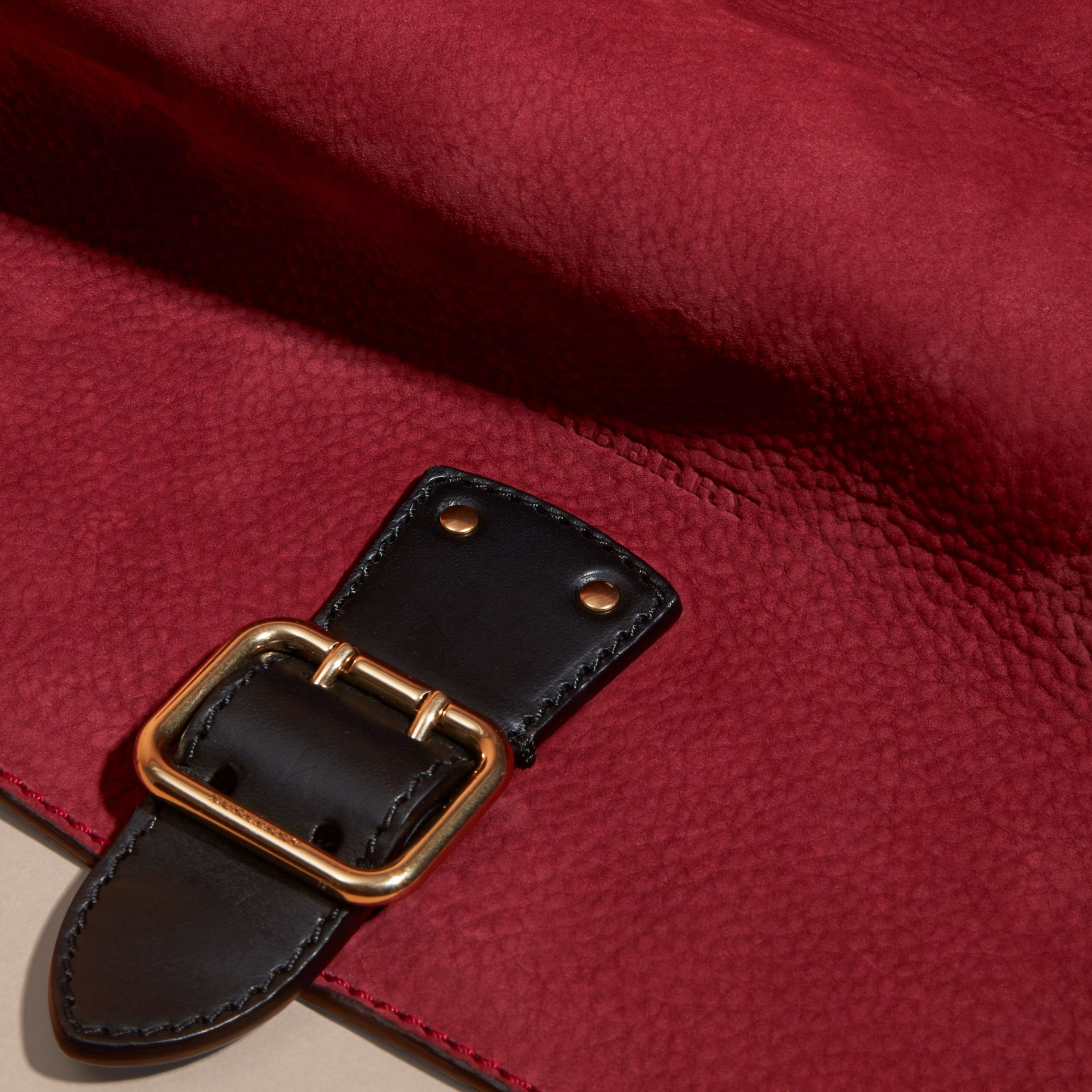 Cherry Grainy Nubuck Crossbody Bag - gallery image 2