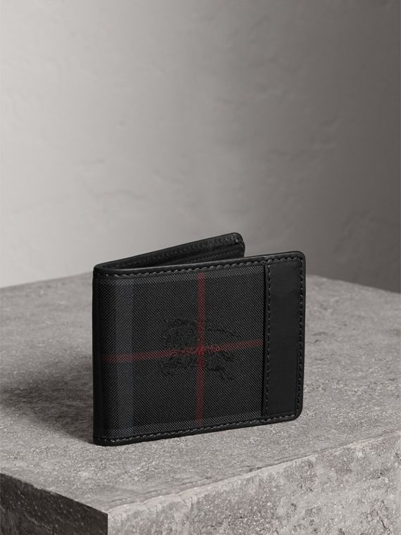 Horseferry Check Wallet in Charcoal/black