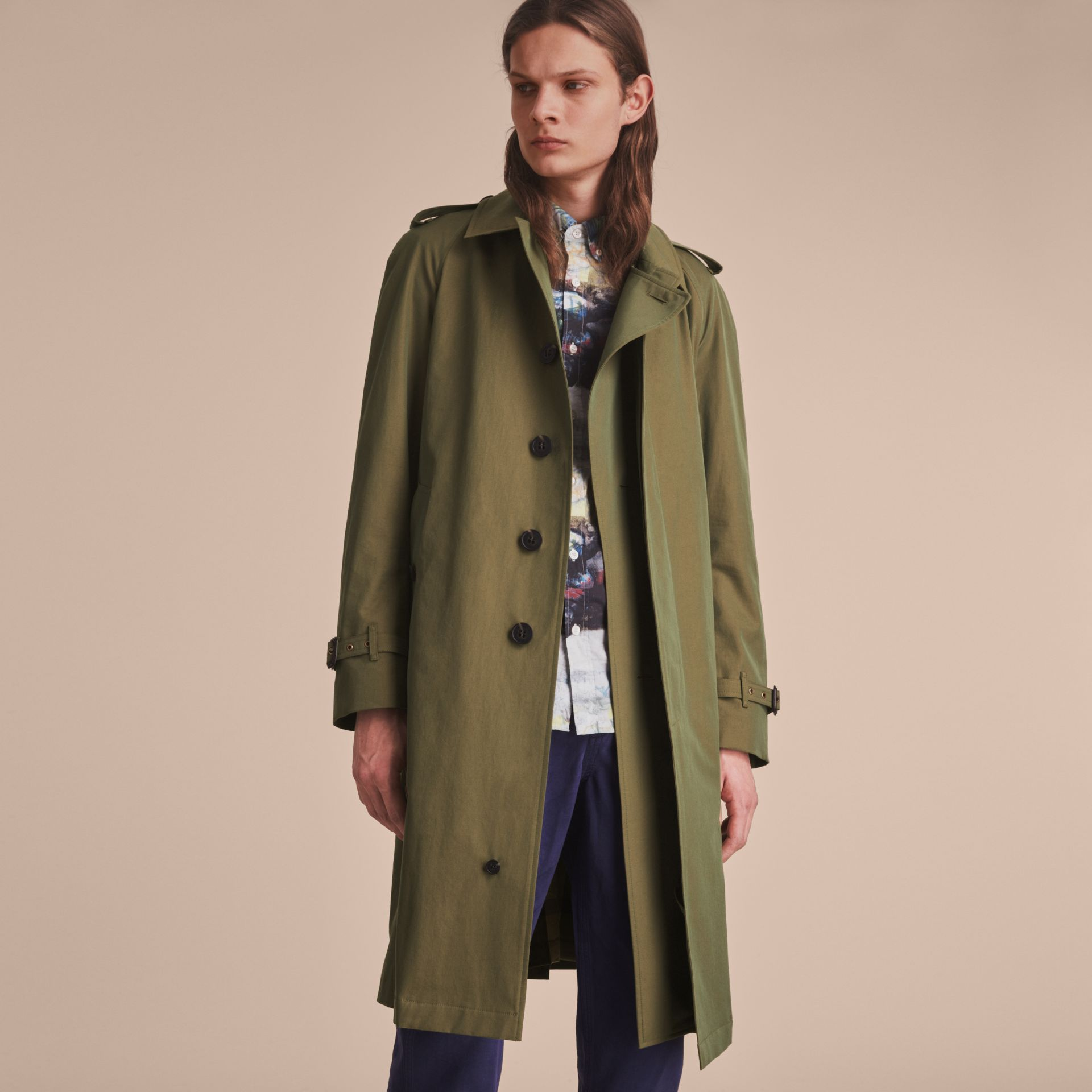 Oversize Storm Shield Tropical Gabardine Trench Coat - gallery image 8