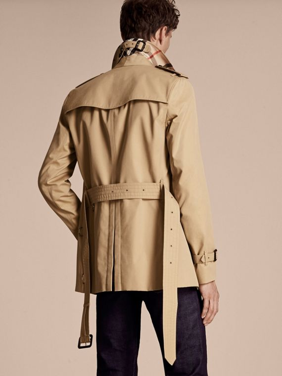 Honey The Sandringham – Short Heritage Trench Coat Honey - cell image 2