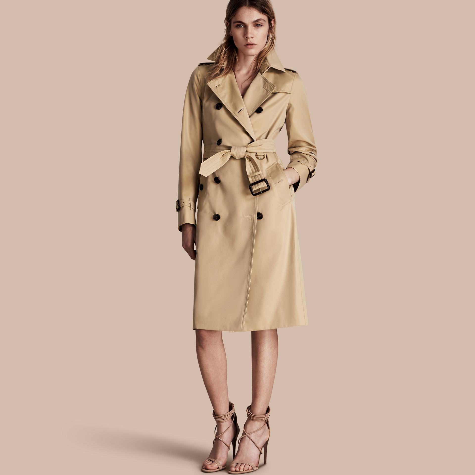 Honey The Kensington – Extra-long Heritage Trench Coat Honey - gallery image 1