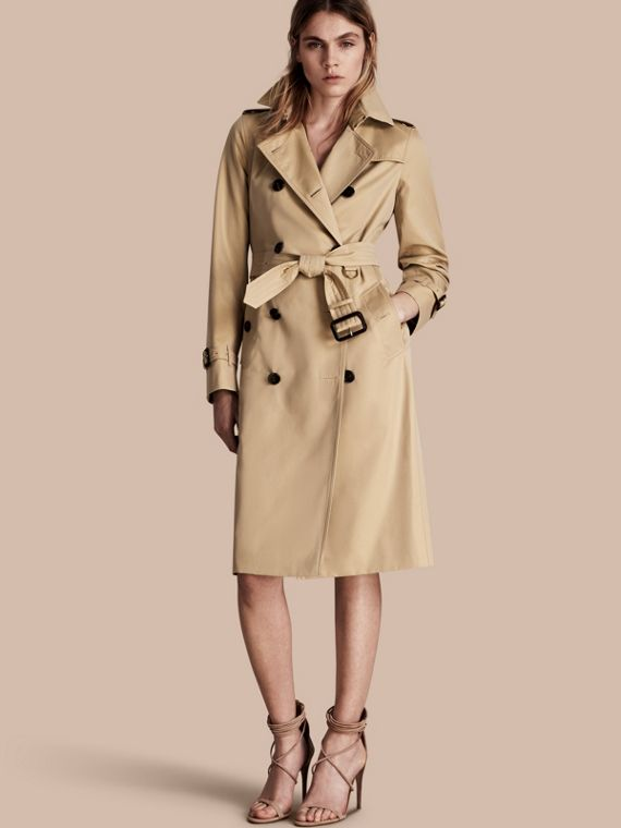 The Kensington – Trench-coat Heritage ultra-long Miel