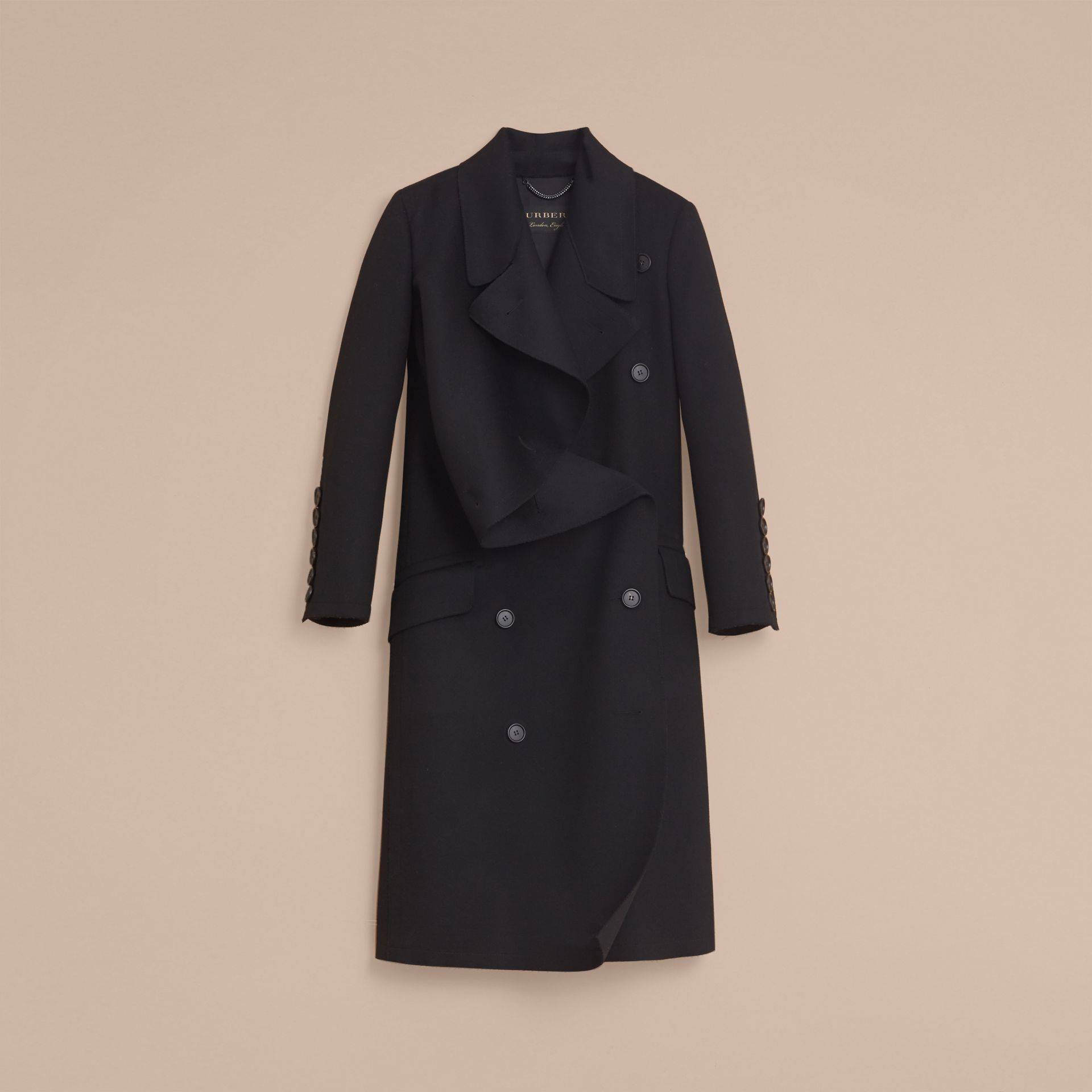 Double-faced Wool Asymmetric Coat - Women | Burberry - gallery image 4