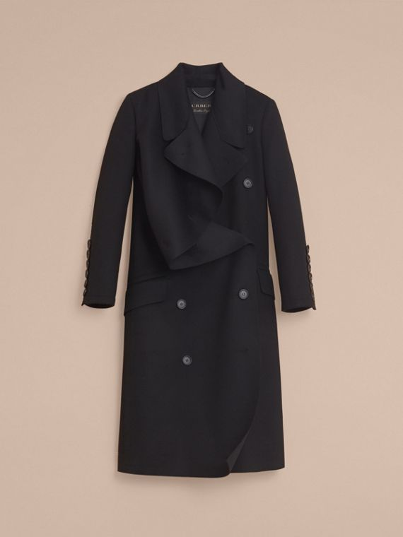 Double-faced Wool Asymmetric Coat - Women | Burberry - cell image 3