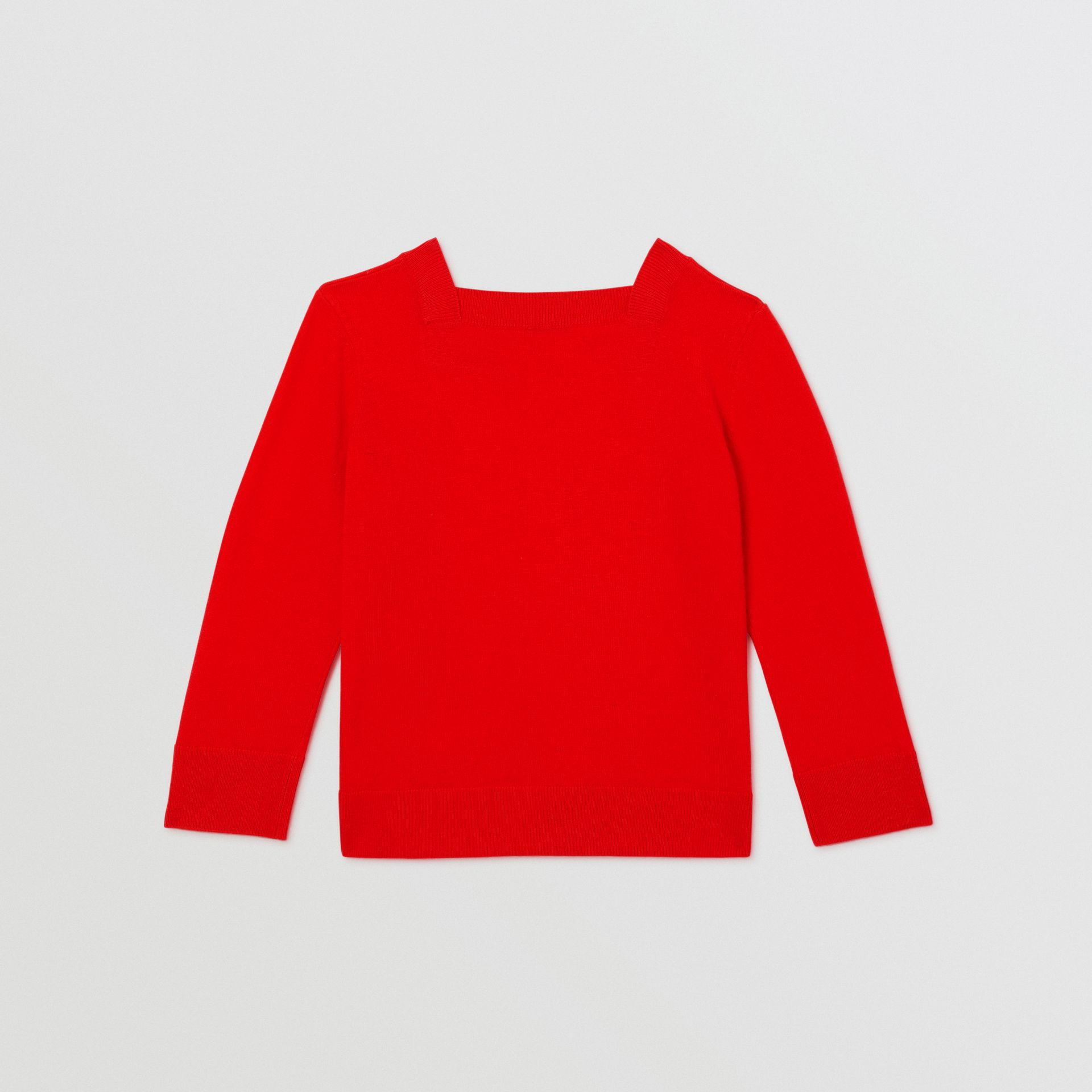 Monogram Motif Cashmere Sweater in Bright Red | Burberry - gallery image 4