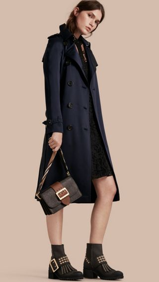 Trench-coat en soie