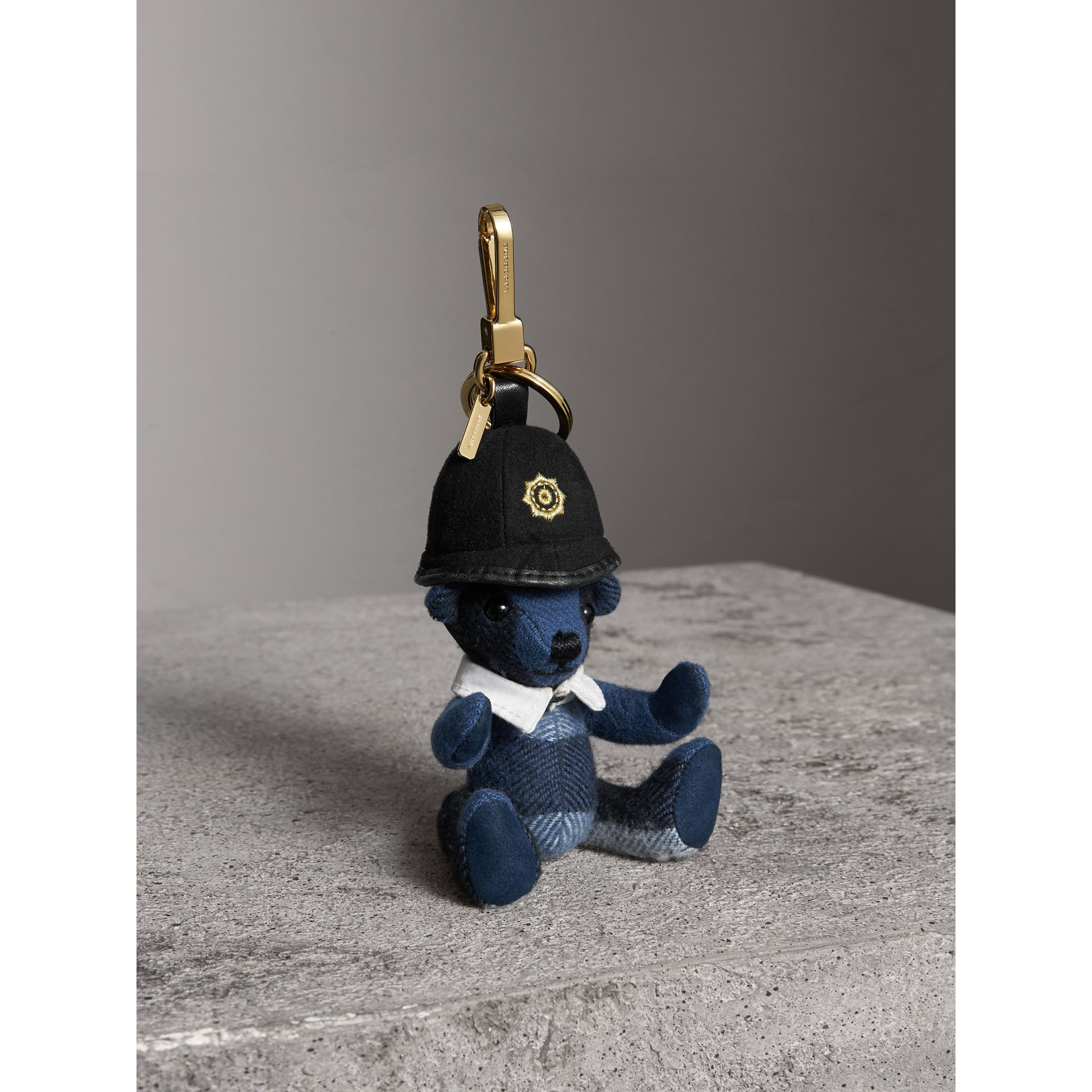 The Bobby Thomas Bear Charm in Cadet Blue | Burberry - gallery image 0