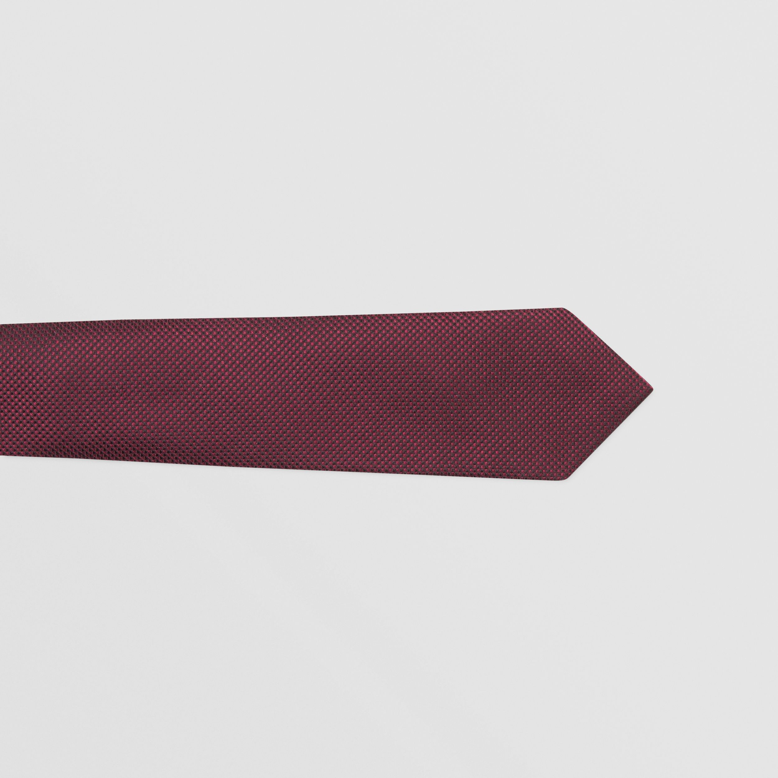 Classic Cut Woven Silk Tie in Dark Plum - Men | Burberry - 2