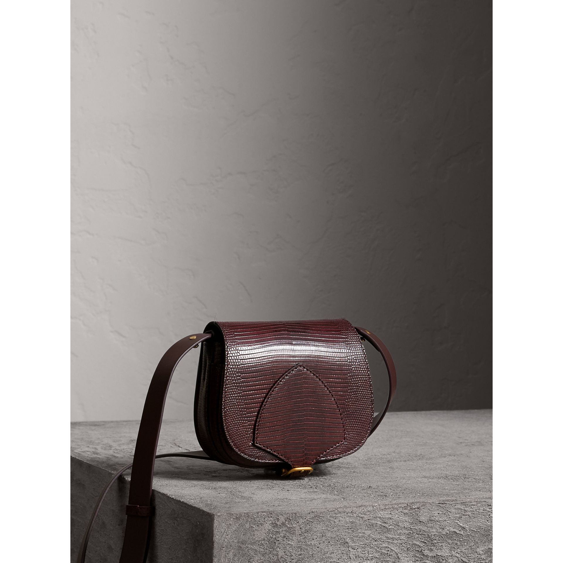 The Satchel in Lizard in Dark Mahogany - Women | Burberry United Kingdom - gallery image 6