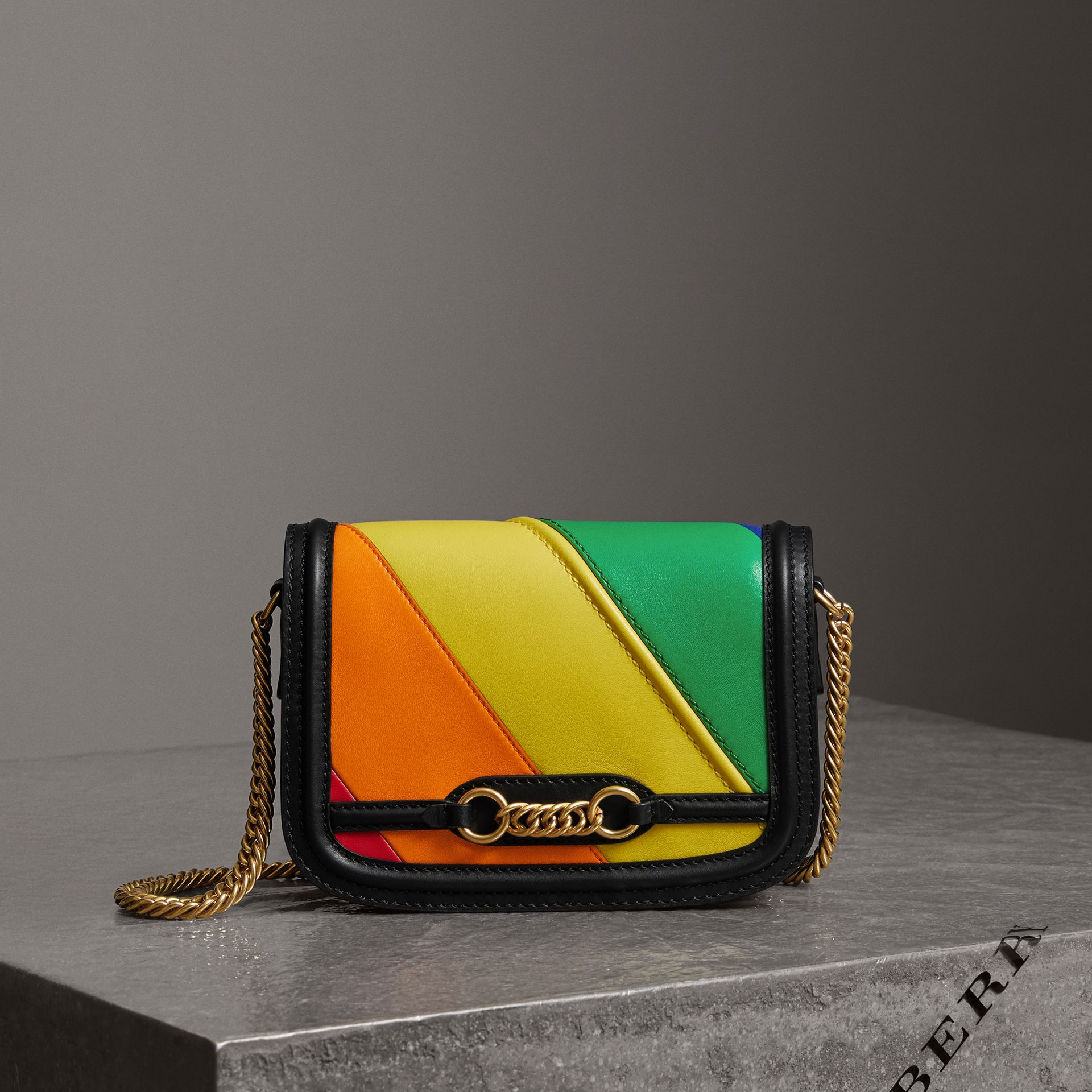 The Rainbow Leather Link Bag - Women | Burberry - gallery image 0