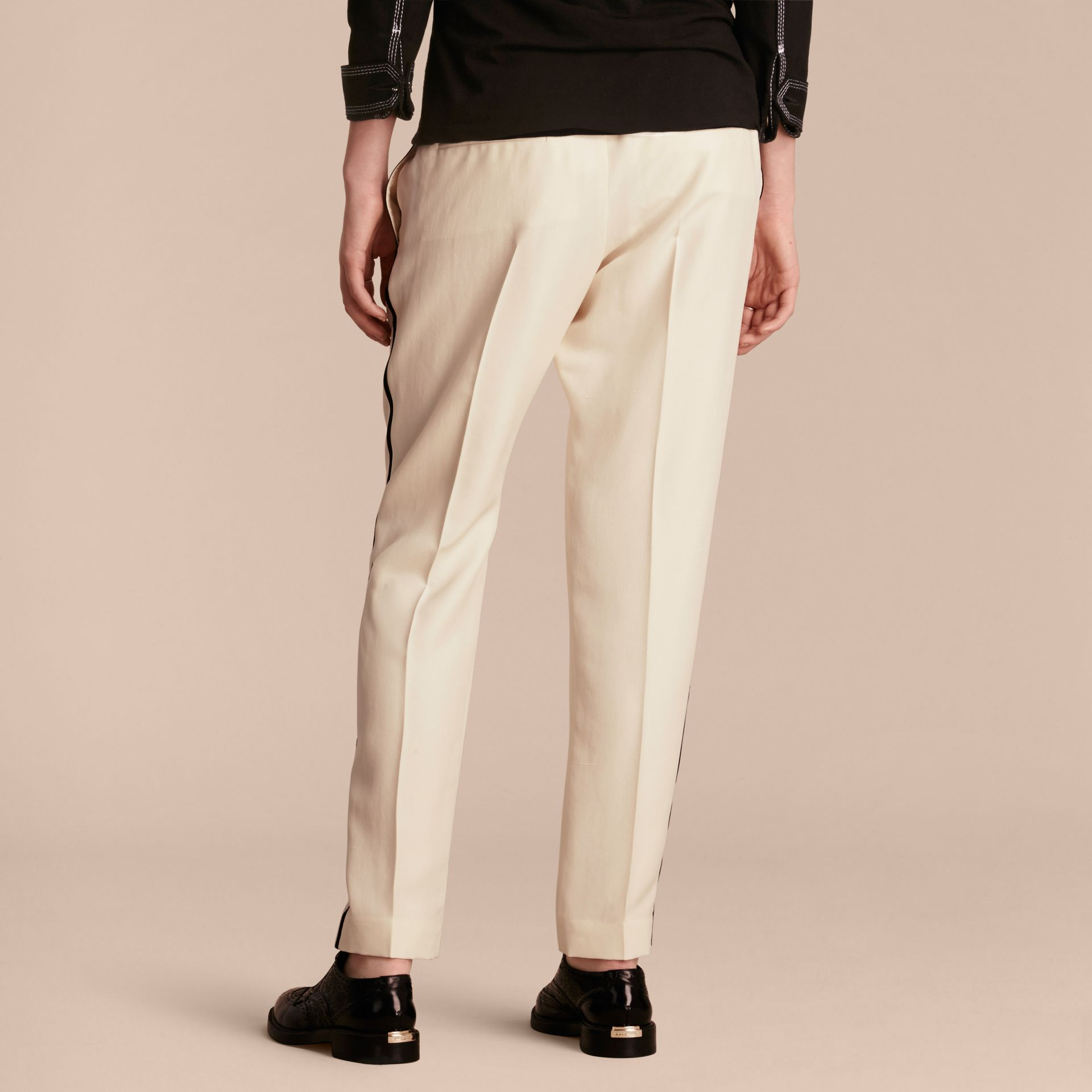 Parchment Tailored Silk Track Pants - gallery image 3