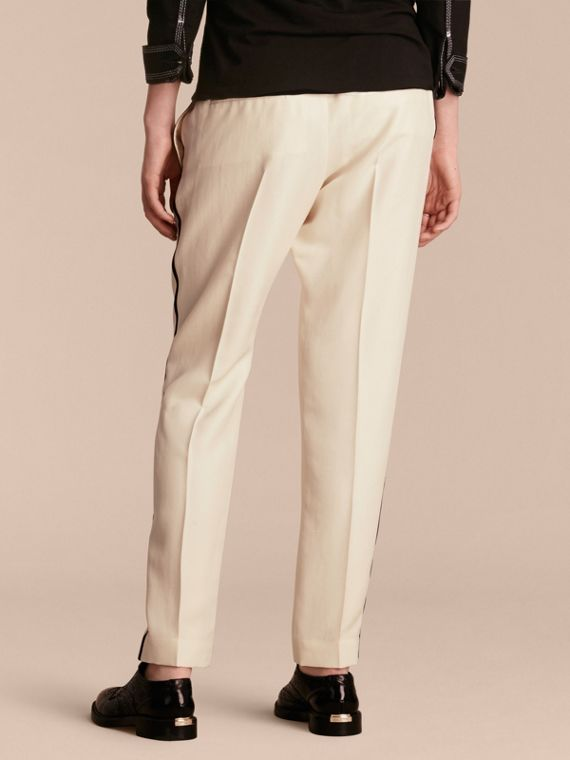 Parchment Tailored Silk Track Pants - cell image 2