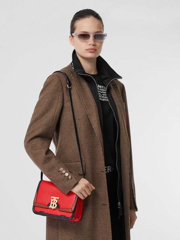 Petit sacTB en cuir avec appliqué (Rouge Vif) - Femme | Burberry - cell image 2
