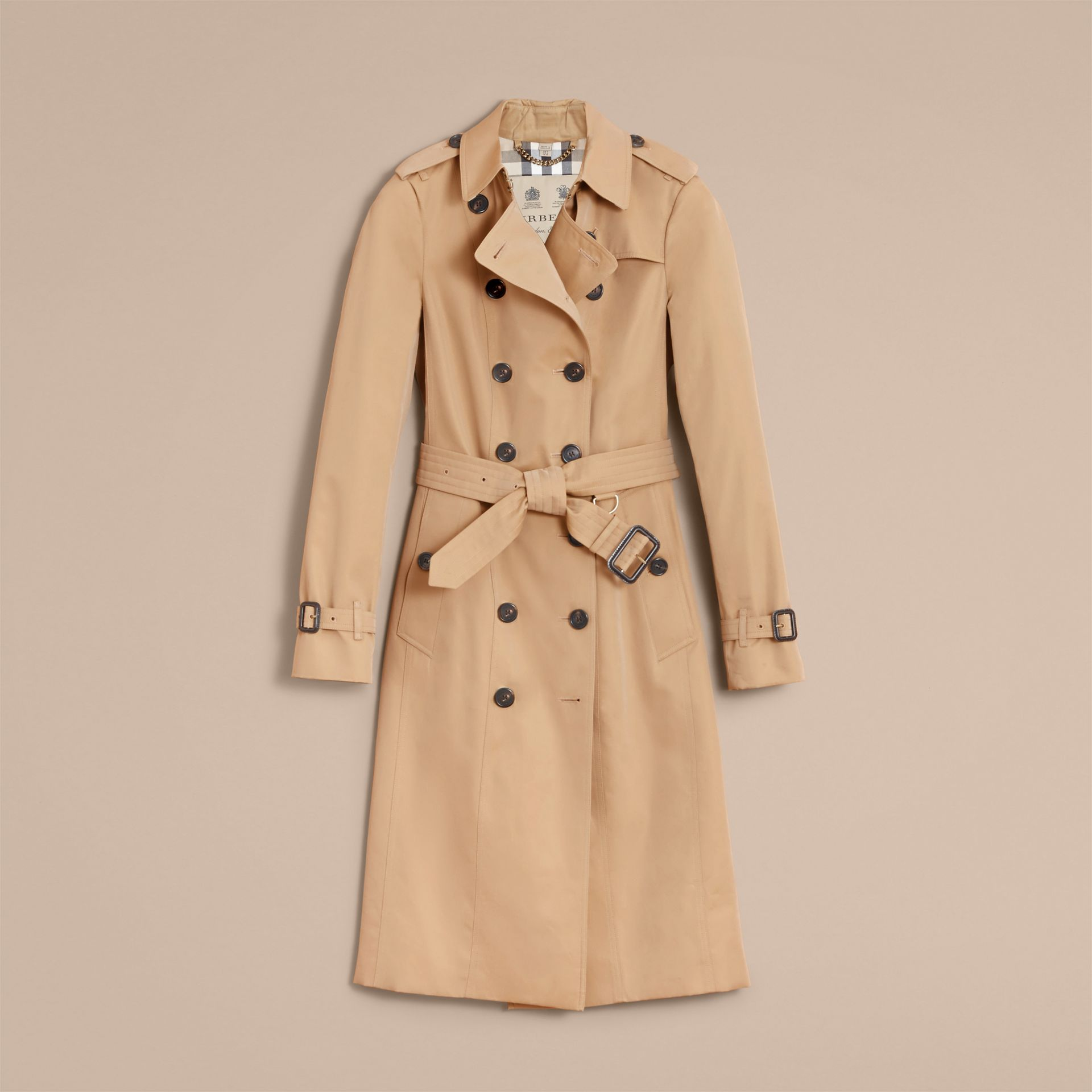 The Sandringham – Extra-long Heritage Trench Coat in Honey - gallery image 4
