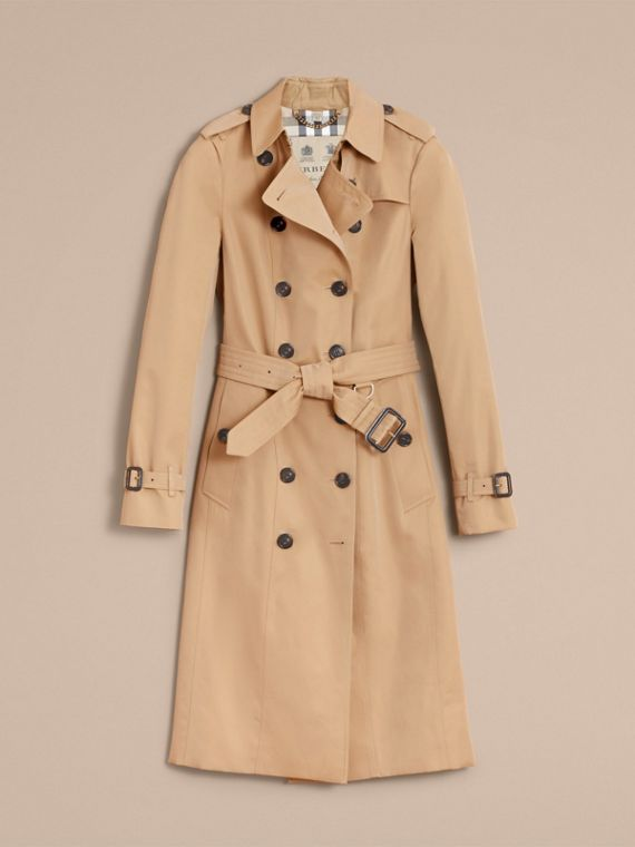 The Sandringham - 超長版 Heritage 系列風衣 (蜜金色) - 女款 | Burberry - cell image 3