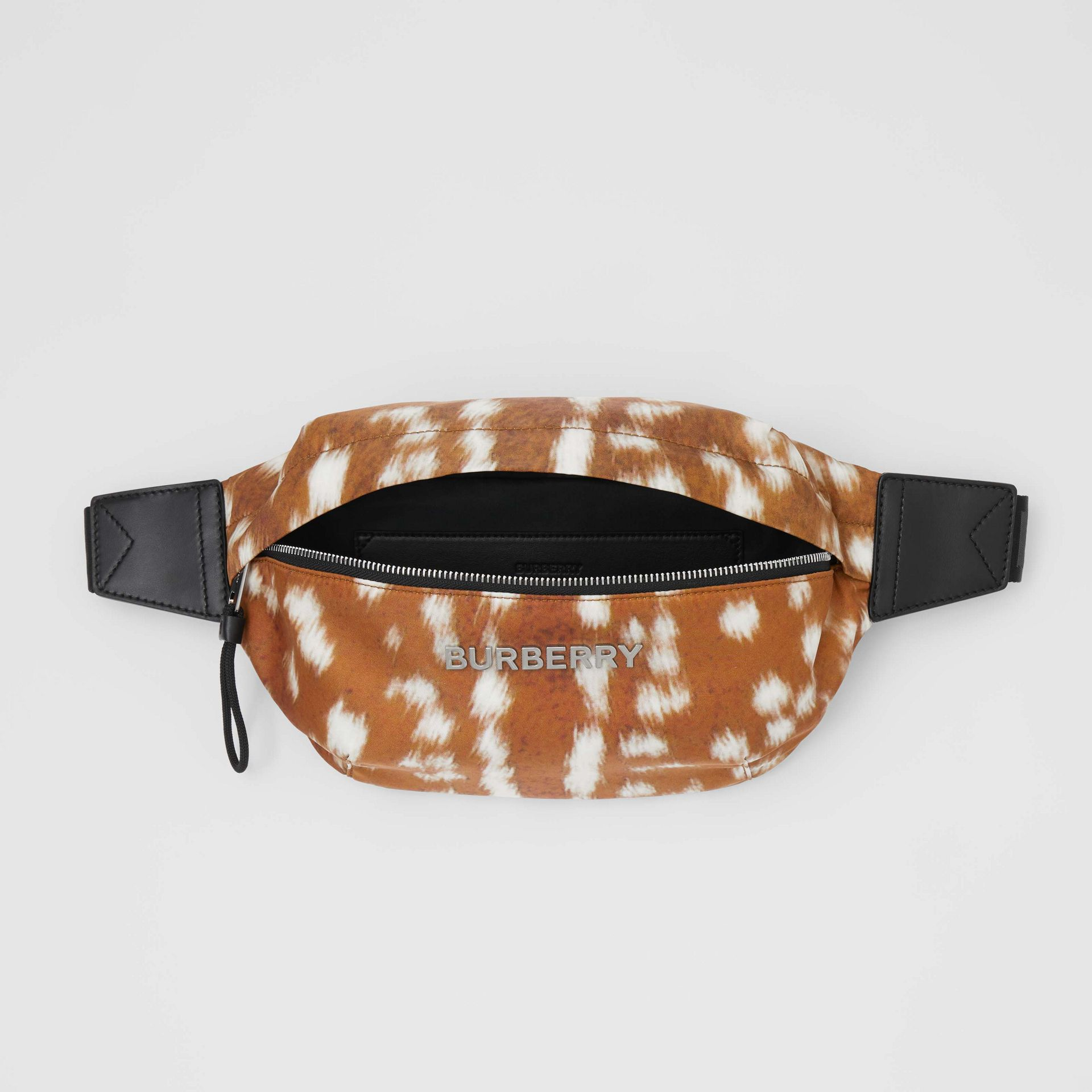 Medium Deer Print Bum Bag in Tan/white - Men | Burberry - gallery image 5