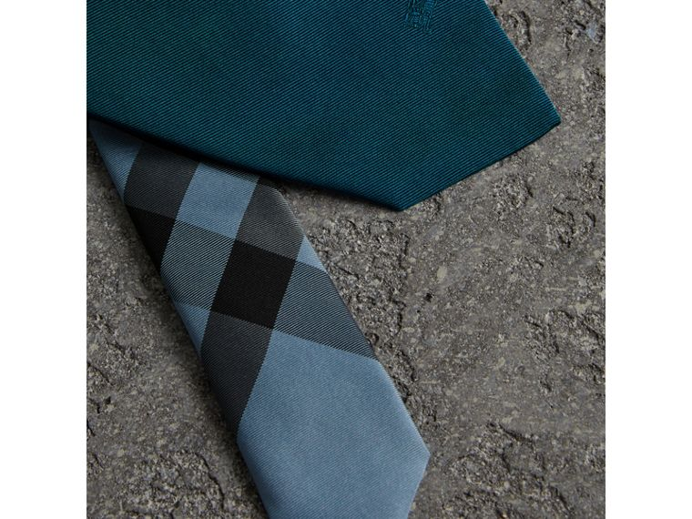 Modern Cut Silk Tie in Mineral Blue - Men | Burberry United Kingdom - cell image 1