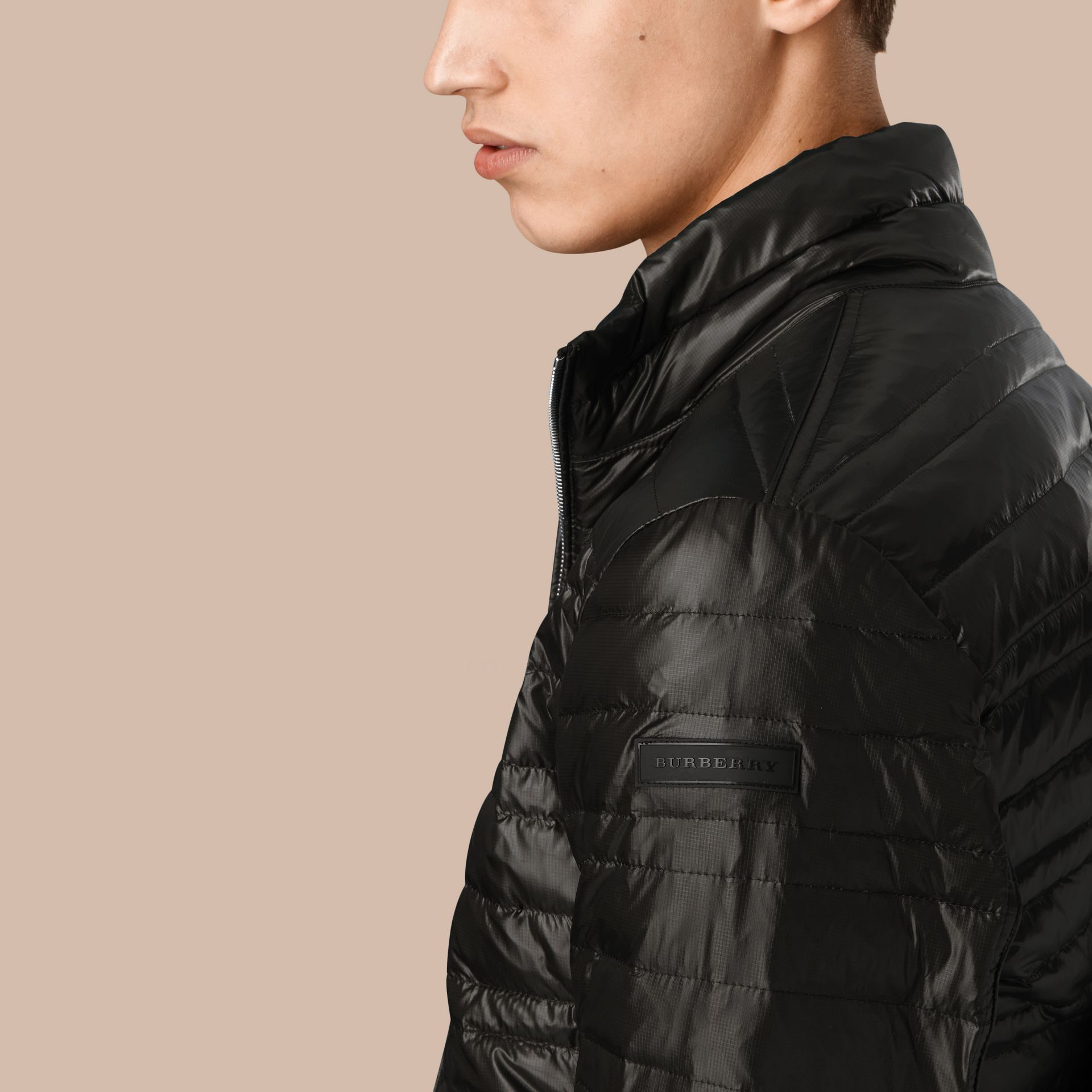 Lightweight Down-filled Jacket in Black - gallery image 3