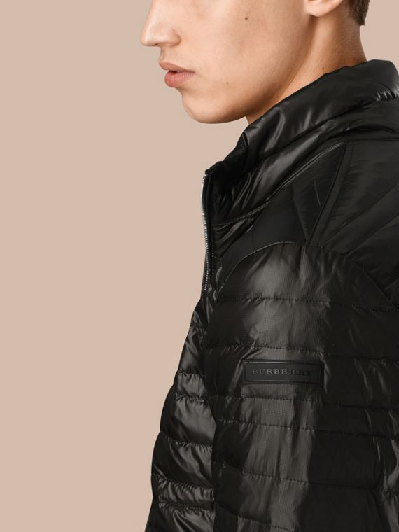 Lightweight Down-filled Jacket in Black - cell image 2