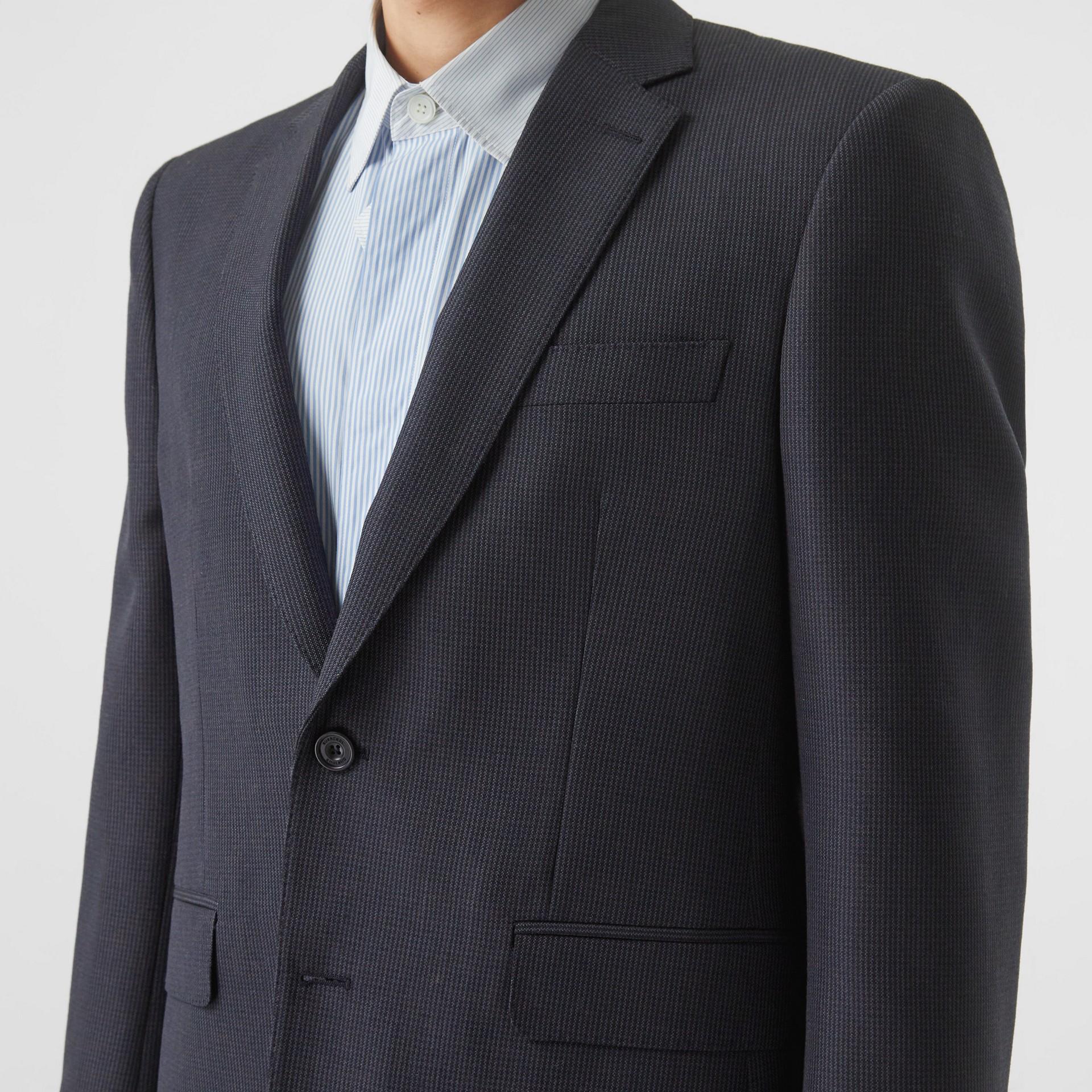 クラシックフィット パピートゥースチェック ウールモヘア スーツ (ネイビー) - メンズ | バーバリー - ギャラリーイメージ 1
