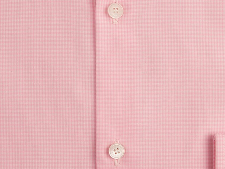 Slim Fit Button-down Collar Gingham Cotton Poplin Shirt in City Pink - cell image 1
