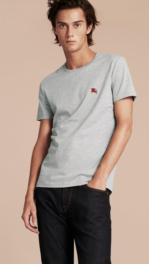 Camaïeu de gris pâles T-shirt en coton ultra-doux Camaïeu De Gris Pâles - Image 6