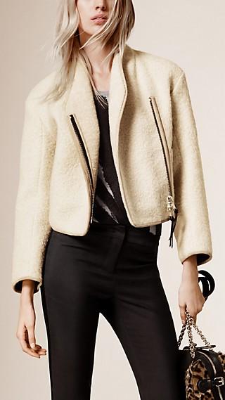 Cropped Alpaca Wool Jacket