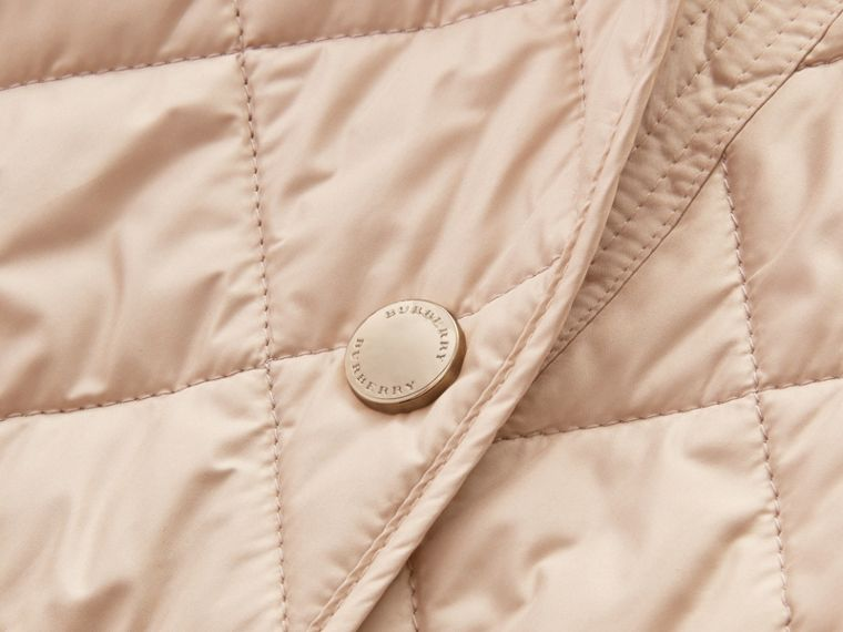 Check Detail Diamond Quilted Jacket in Dark Stone - Women | Burberry Canada - cell image 1