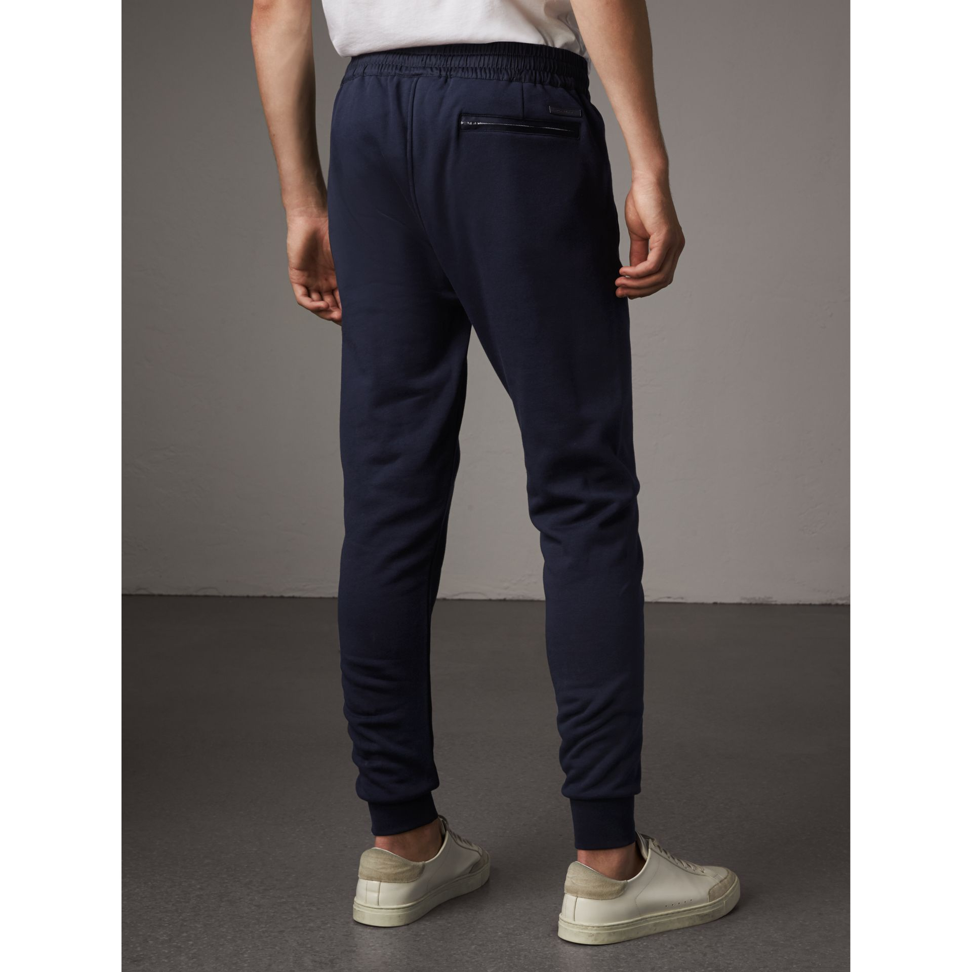 Cotton Sweatpants in Navy - Men | Burberry Singapore - gallery image 2
