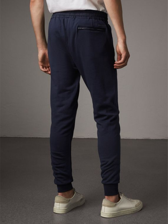 Cotton Sweatpants in Navy - Men | Burberry Singapore - cell image 2