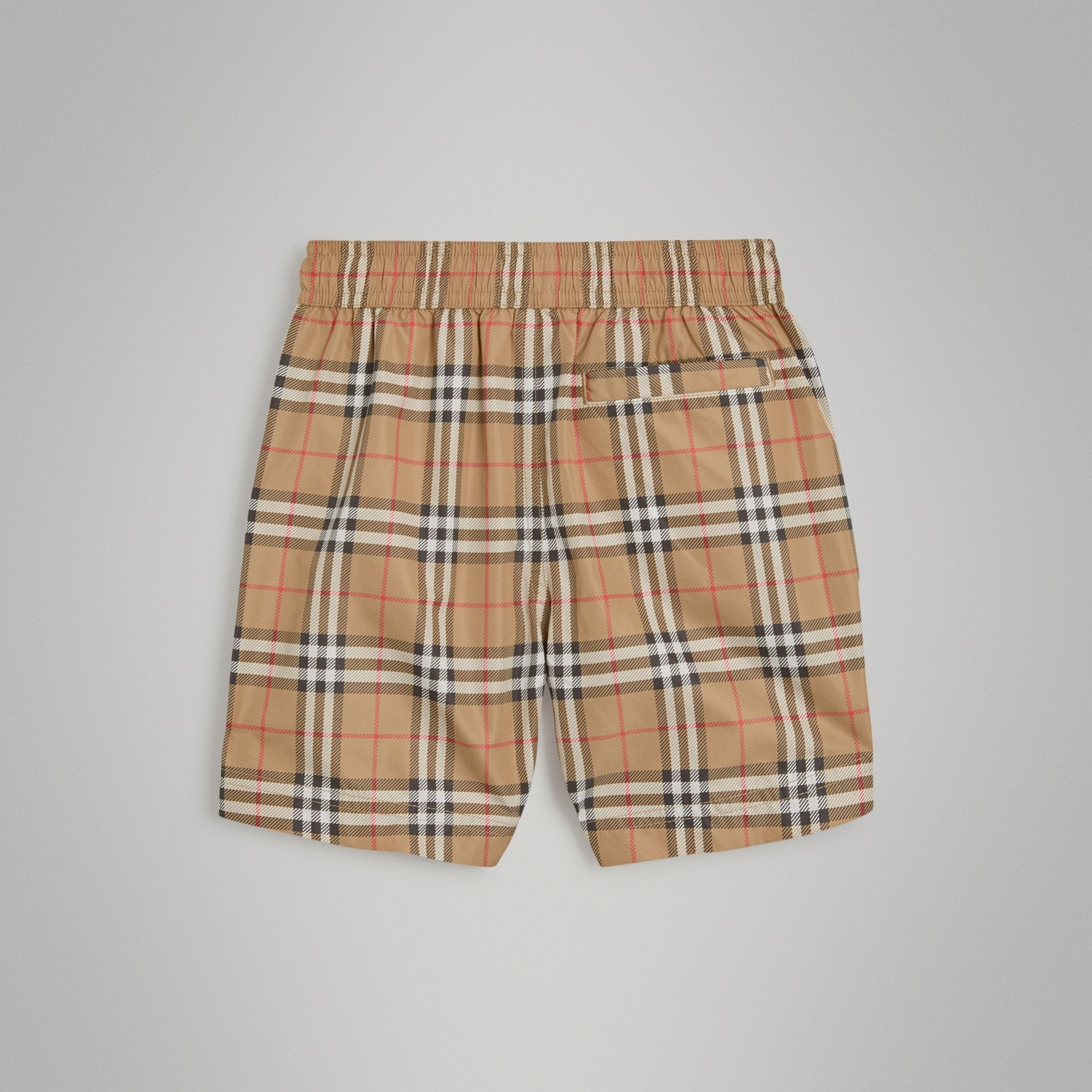 Short de bain à motif Vintage check (Camel) | Burberry - photo de la galerie 3