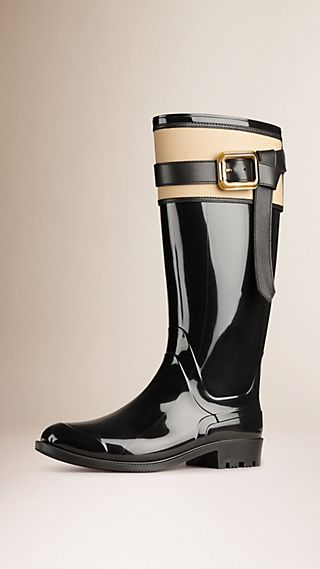 Belted Equestrian Rain Boots