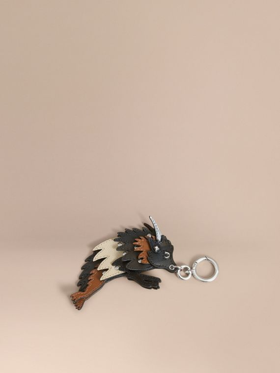 Beasts Leather Key Ring in Chocolate/black - Men | Burberry
