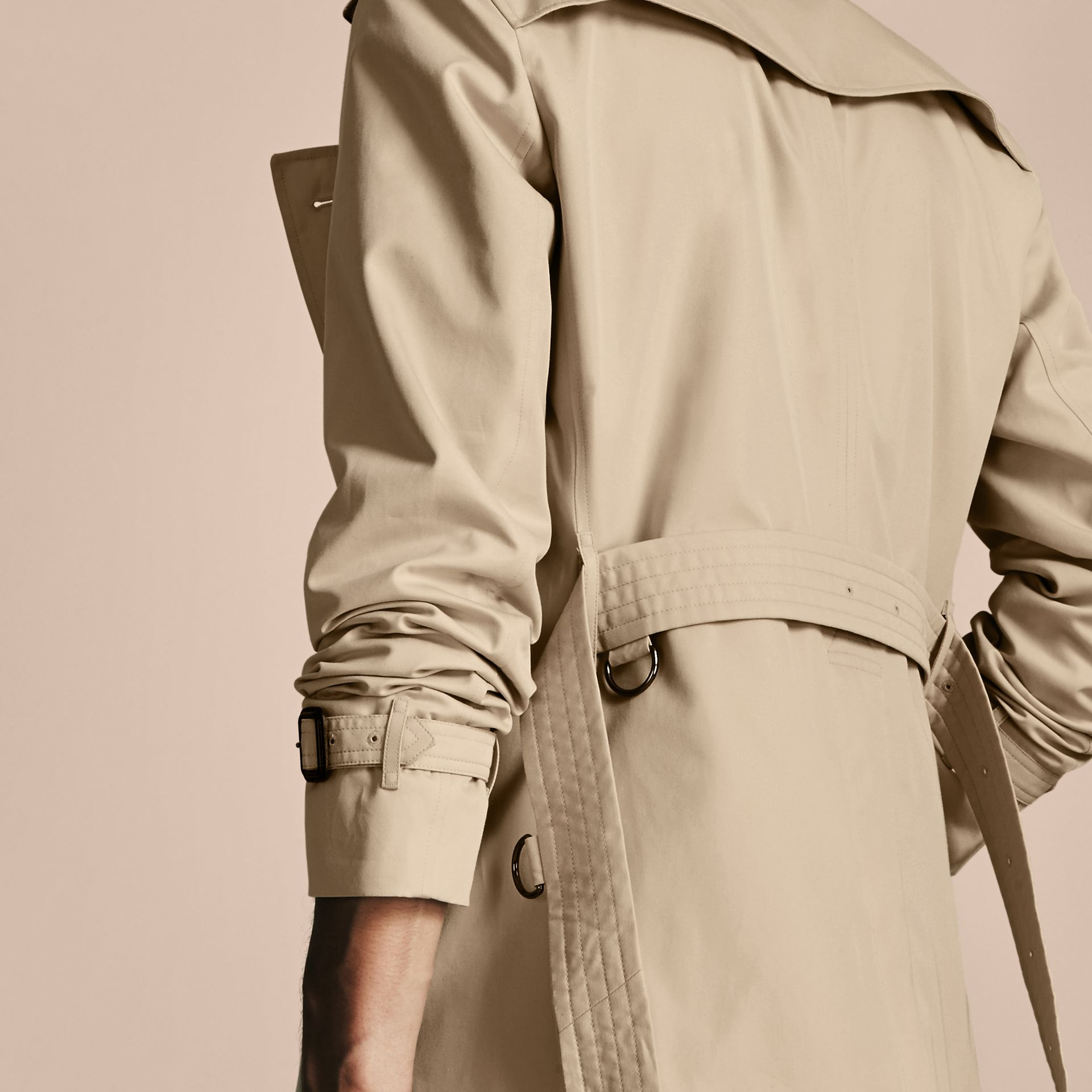 Stone The Chelsea – Mid-length Heritage Trench Coat Stone - gallery image 6