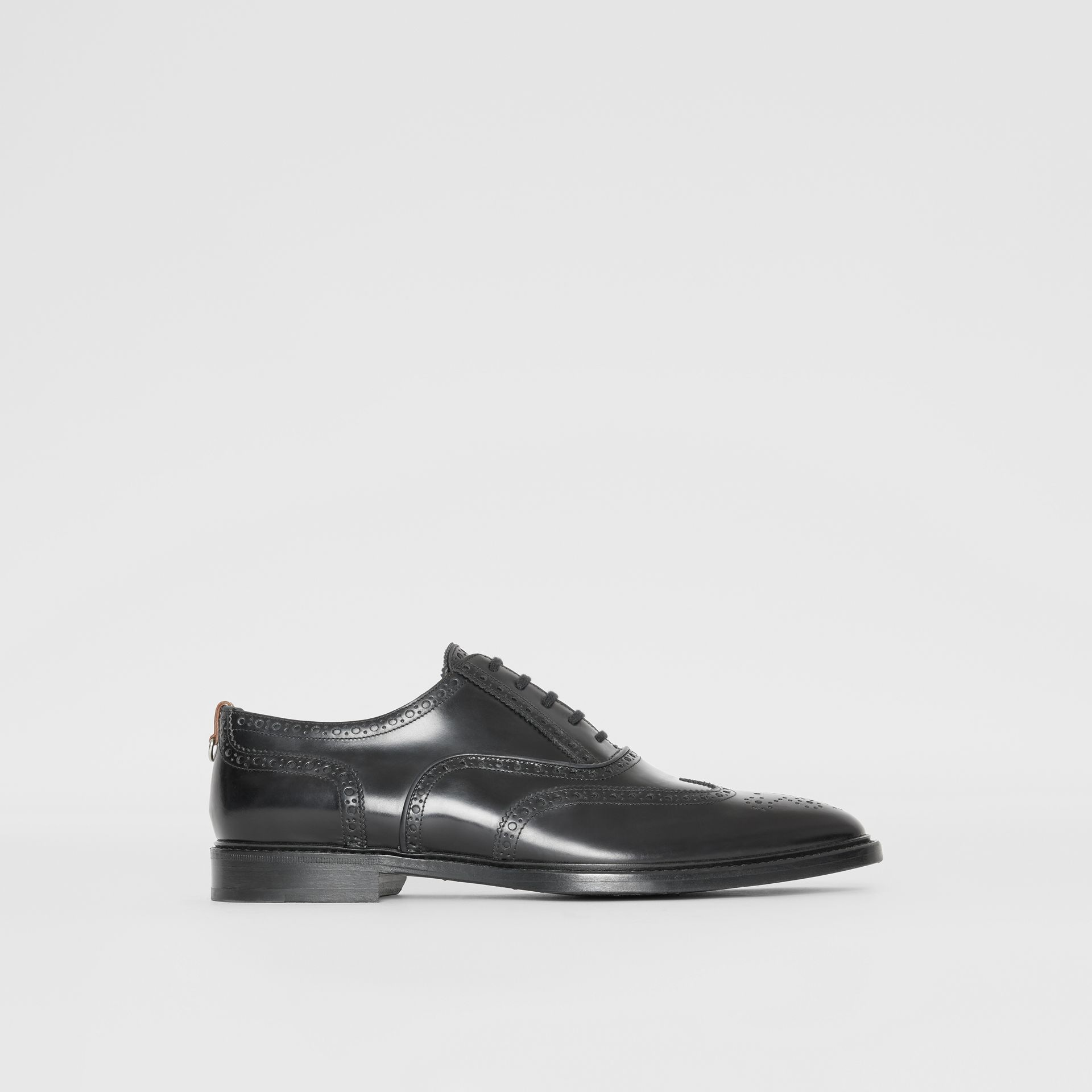 Leather Oxford Brogues in Black | Burberry - gallery image 4