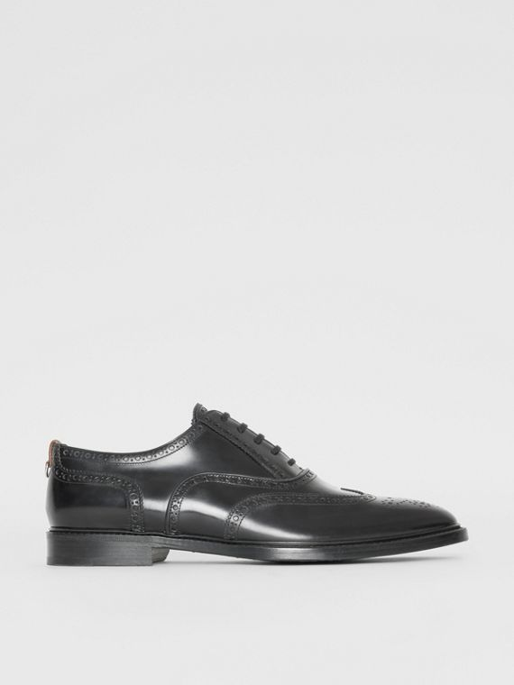 Brogue Oxford in pelle (Nero)