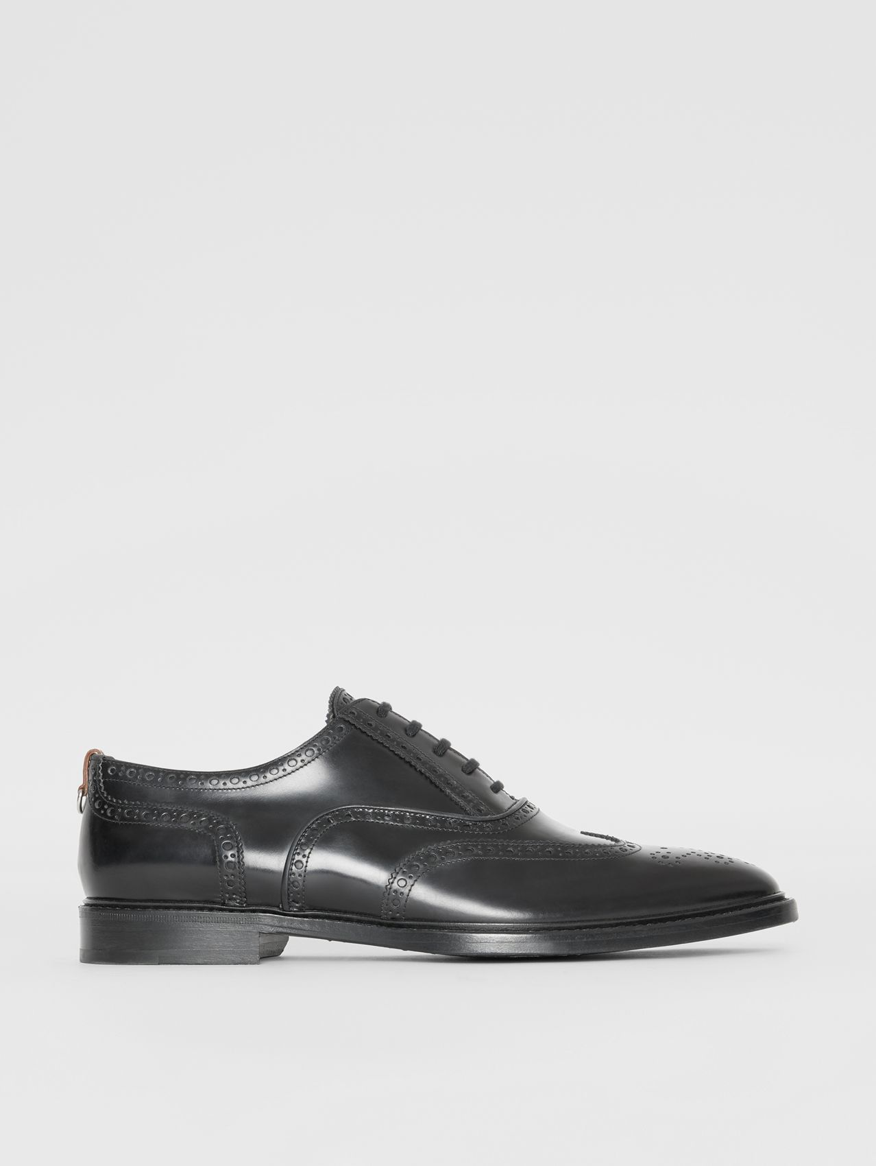 Richelieus Oxford en cuir in Noir
