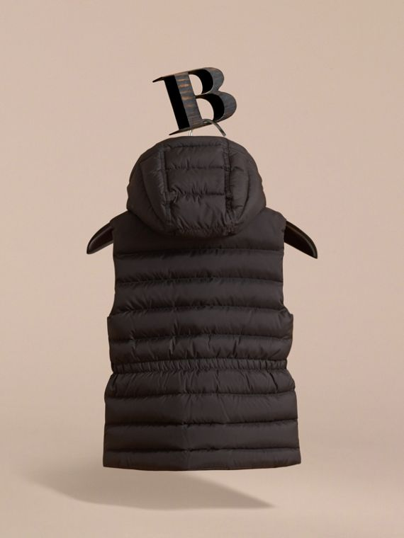Detachable Hood Down-filled Gilet in Black - Girl | Burberry Australia - cell image 3