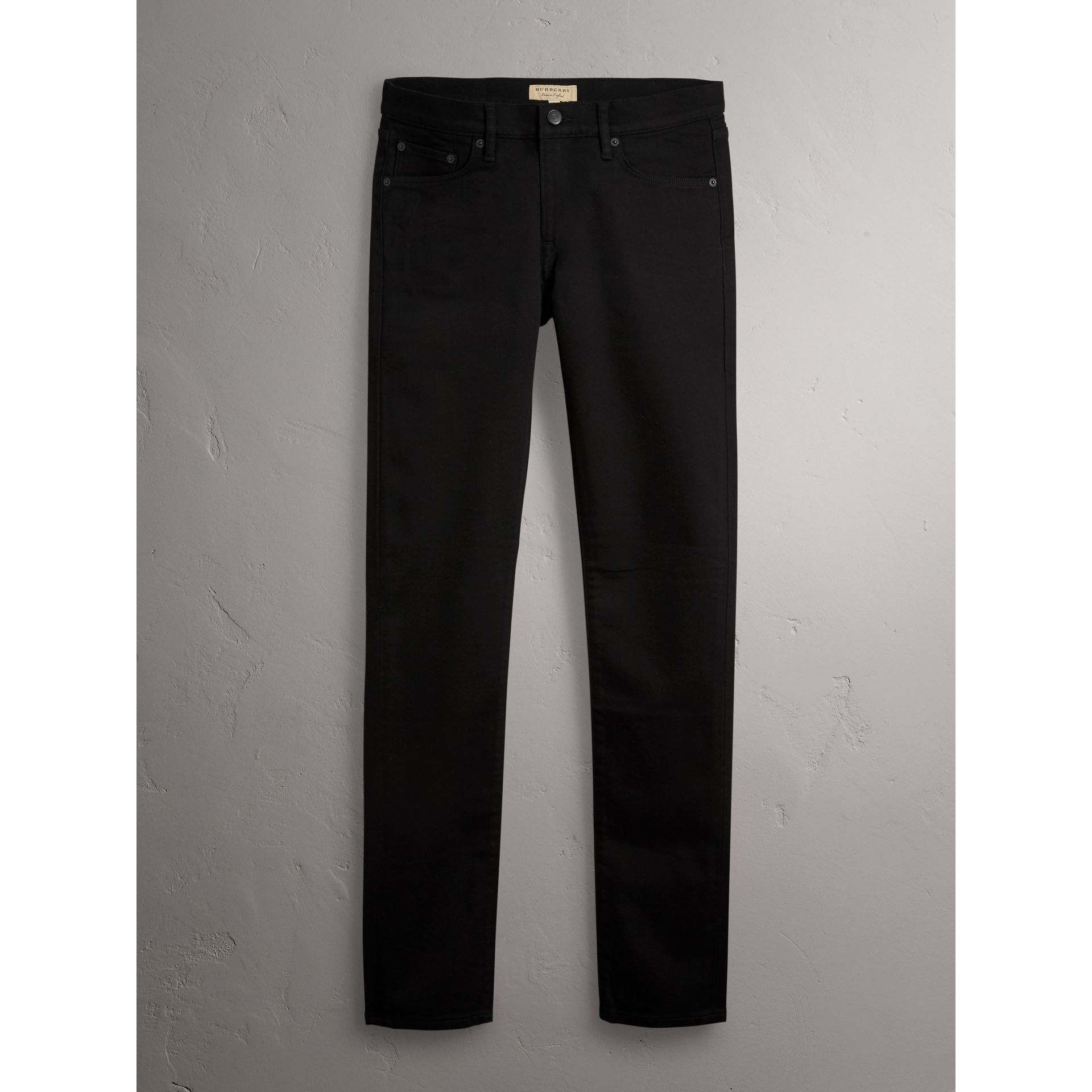 Slim Fit Stretch-denim Jeans in Black - Men | Burberry Australia - gallery image 3
