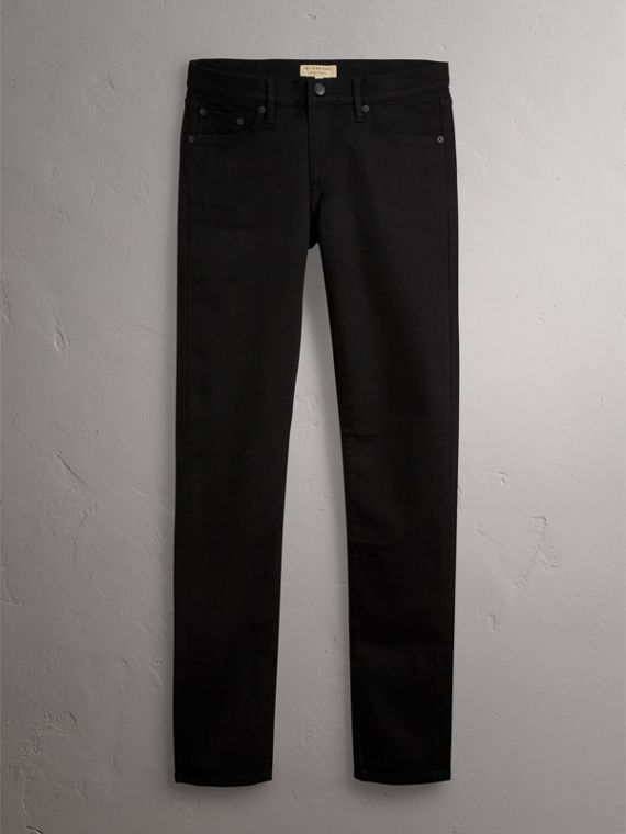 Slim Fit Stretch-denim Jeans in Black - Men | Burberry Australia - cell image 3
